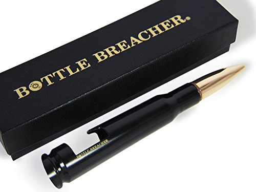 50 Caliber BMG Black Bottle Breacher Bottle Opener with Gift Box Made in the USA For Sale