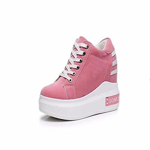 Alta Base Zapatos La Grueso Solo Bizcocho Zapatos Pink Ocio 10Cm Con Ultra Mujer El Elegante De Movimiento La BBSLT De Primavera Aumentan p8qw8F