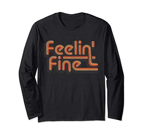 Feelin' Fine 70's Vintage Retro T-Shirt Groovy Feeling Tee