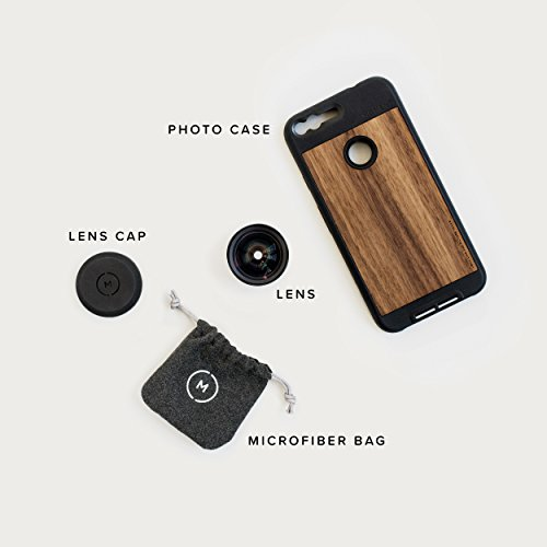 Google Pixel Case with Wide Lens Kit || Moment Walnut Wood Photo Case plus Wide Lens || Best google wide attachment lens with thin protective case. by Moment (Image #6)
