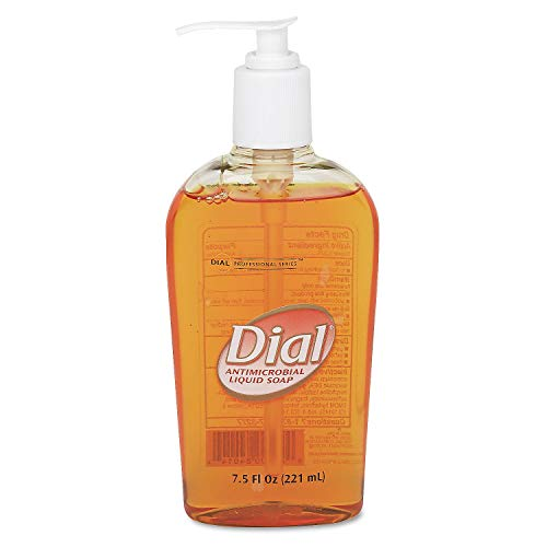 Dial Gold Antimicrobial Liquid Hand Soap, Pump, 12/7.5oz (Pack of 12)