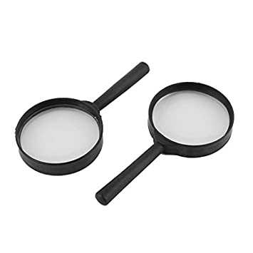 Joyería eDealMax Handheld plástica lupa lupa lupa 10X 2 piezas Negro Claro
