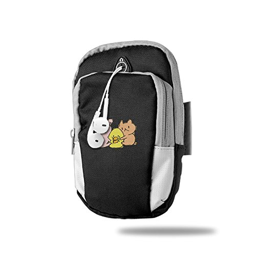 Cute Animal Outdoor Mobole Phone Armbags Bag Running Pack Black For Unisex,One Size