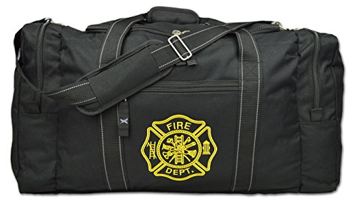 Lightning X Value Firefighter Turnout Gear Bag w/Maltese Cross - Black