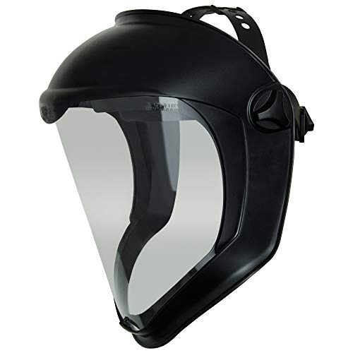 Uvex Bionic Face Shield with Clear Polycarbonate Visor and Anti-Fog/Hard Coat (S8510) (Renewed)