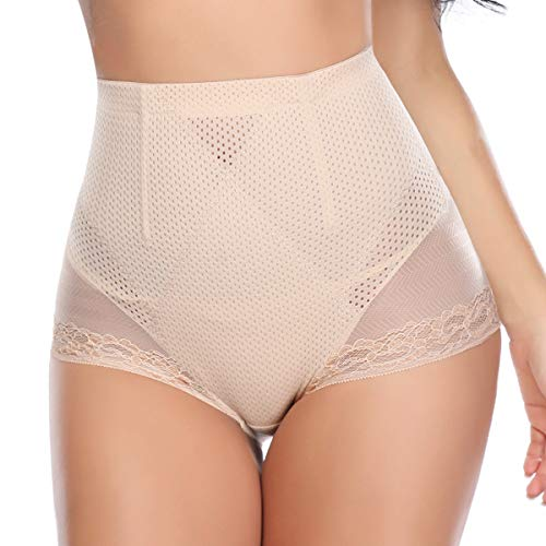 Seamless Lace Tummy Control Underwear for Women Hi-Waist Shaper Slimming Panty Firm Control Shapewear - Trim Firm Lace Control