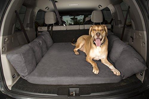 Backseat Barker: SUV Edition (Orthopedic Shock-Absorbing Big Barker Dog Bed for Back of Sport Utility Vehicles)