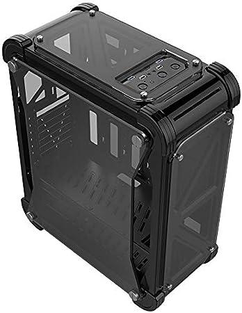 YGLFYP Caja de la computadora de Escritorio Acrílico Transparente chasis ATX computadora de Escritorio Juego de chasis,Black: Amazon.es: Hogar