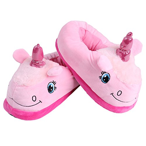 6 5 Slippers Super Home Unicorn HENGSONG Pink Adult Comfortable Slippers Funny and UK3 Plush Soft 7qZBPwC