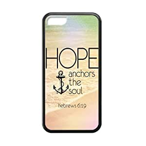 MMZ DIY PHONE CASEVintage Retro Anchor Apple iphone 6 plus 5.5 inch Case Cover TPU Laser Technology Hope Ahchors The Soul Hebrews 6:19 Quotes Water