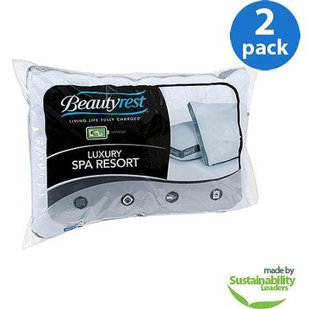 Beautyrest Luxury Spa Resort Pillow, Set of 2