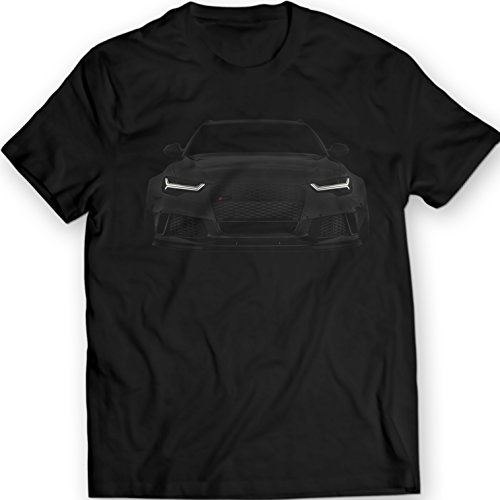 Audi RS6 S6 A6 T-Shirt Black Tee Mens Gift Idea 100% Cotton Holiday Gift Birthday (XL, Black)