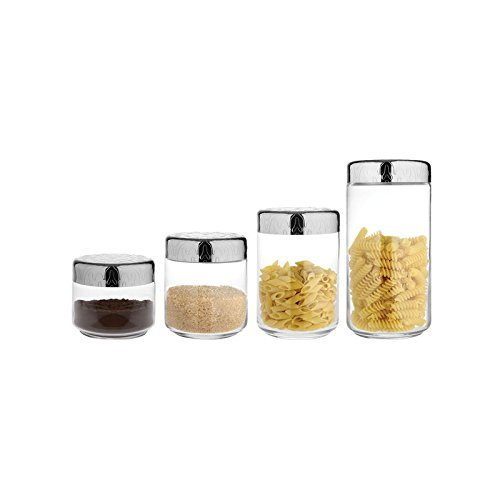 Dressed Kitchen or Bathroom Storage Jar by Marcel Wanders for Alessi (Set of 4) by Alessi
