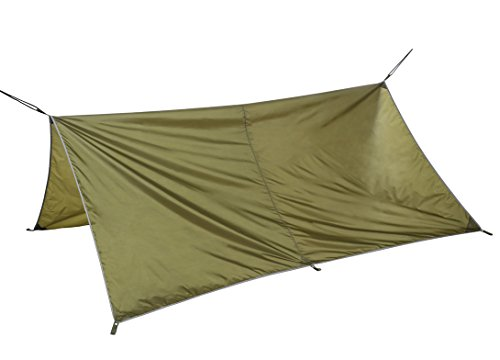 Hammock Tent with Mosquito Net for Camping, Portable Hammock Kit includes Waterproof Tarp (Pine Green)
