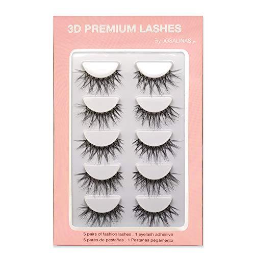 - JOSALINAS Crisscross Wispy False Eyelashes Extensions 5 Pairs Glamour Fake Mink Lashes, Winter