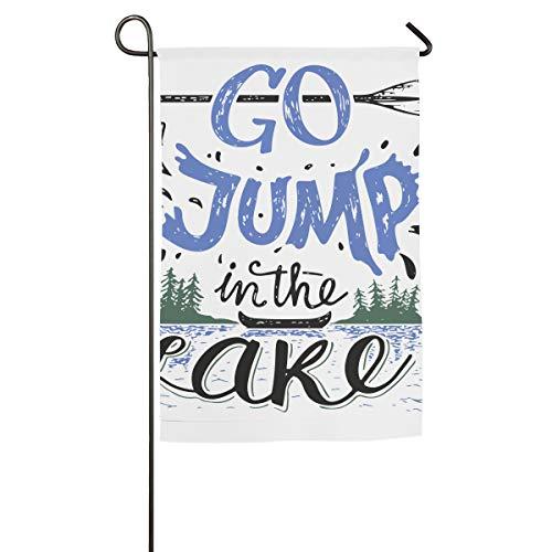 HenSLK Go Jump in The Lake Vertical House Flag,Garden Flag,Home Flag,Indoor Flag Yard Indoor & Outdoor Decoration 12x18inch & 18x27inch -