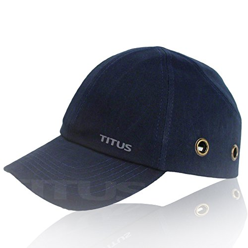 Titus Lightweight Safety Bump Cap - Baseball Style Protective Hat (Navy Blue)