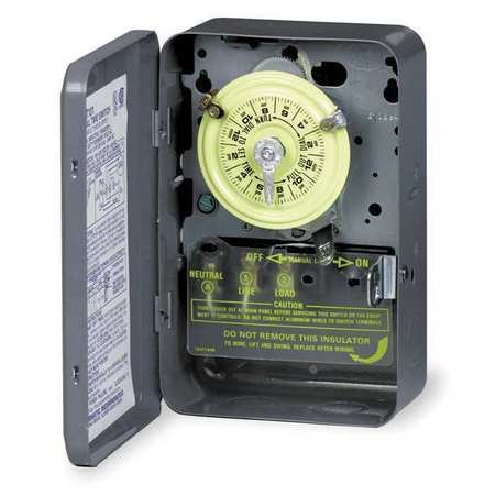 Intermatic T173 ON/OFF T170 Series Mechanical Timer Switch With Skip-A-Day 120 Volt AC 40 Amp 24 Hour (Intermatic 24 Hr Electronic)