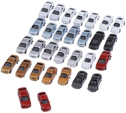 Perfeclan 自動車模型 モデルカー 車模型 塗装車 ミニカー 1/200 鉄道模型 DIY ジオラマ おもちゃ 30台入