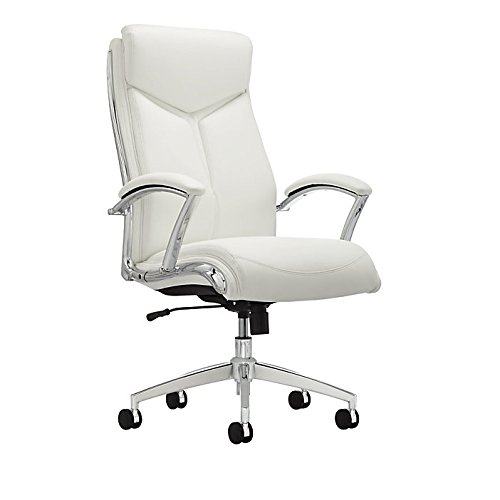 Realspace Verismo Bonded Leather High-Back Chair, ()