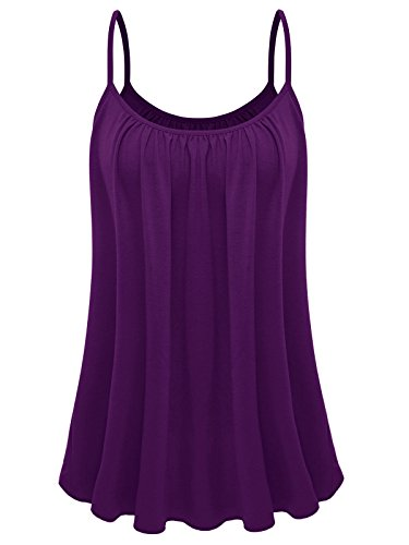 - 7th Element Womens Plus Size Cami Basic Camisole Tank Top (Eggplant Purple,2XL)