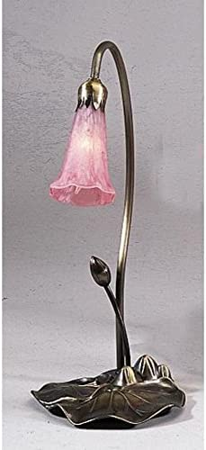 Meyda Home Indoor Decorative Lighting Accessories 16″H Pink Pond Lily Accent Lamp