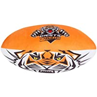 Wests Tigers NRL Plush Football Ball Soft Sublimated Team Jersey Print