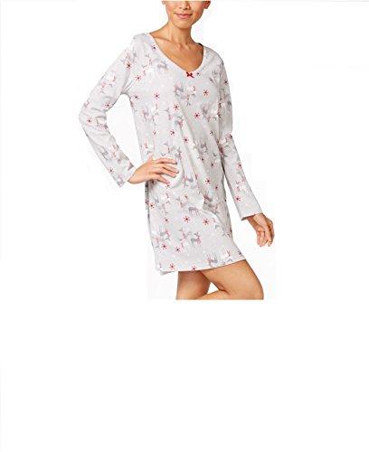 Charter Club Knit Sleepshirt Reindeer Holiday Medium
