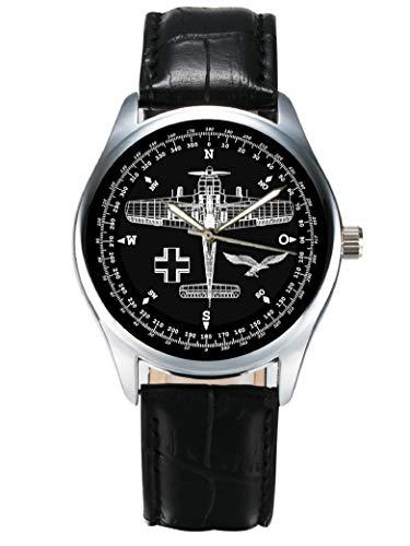 FOCKE WULF FW-190 Luftwaffe Fighter Aircraft Schematics Art DIAL Collectible WW-II Wrist Watch