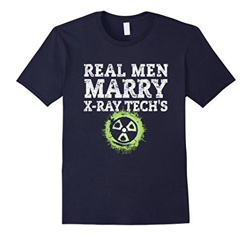 Men's Real Men Marry X-Ray Tech's, Love xRay Tech T-Shirt 3XL Navy (T-shirt Tech X-ray)