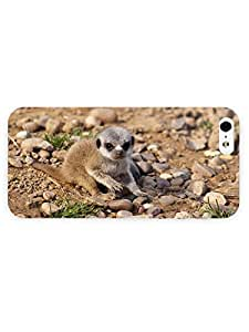 3d Full Wrap Case for iPhone 5/5s Animal Cute Meerkat