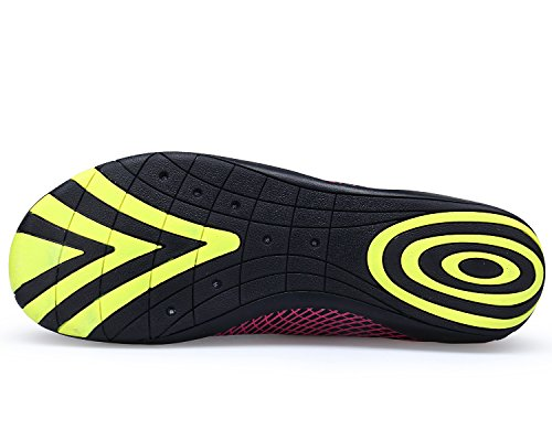 für Schwimmschuhe Surfen Schnell Barfuß Wasserschuhe Bdawin Damen Schuhe Trocknend Leicht Druck Aqua Rot Tauchen Strandschuhe Fahren Yoga qUwTvg