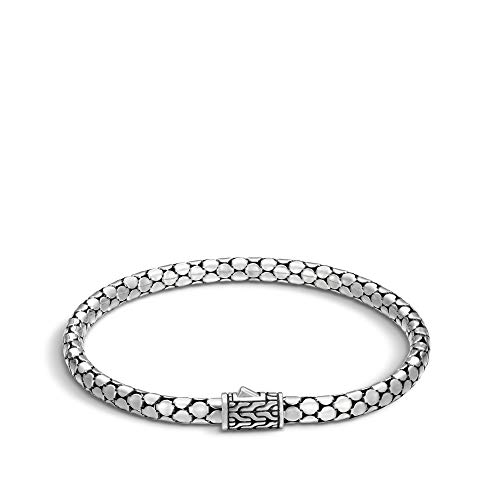 John Hardy Women's Dot 4.5mm Silver Slim Chain Bracelet Large ()