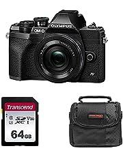 $699 » Olympus OM-D E-M10 Mark IV Mirrorless Digital Camera with 14-42mm Lens (Black) with Transcend 64GB SD Card & Precision Design PD-C10 Camera Bag