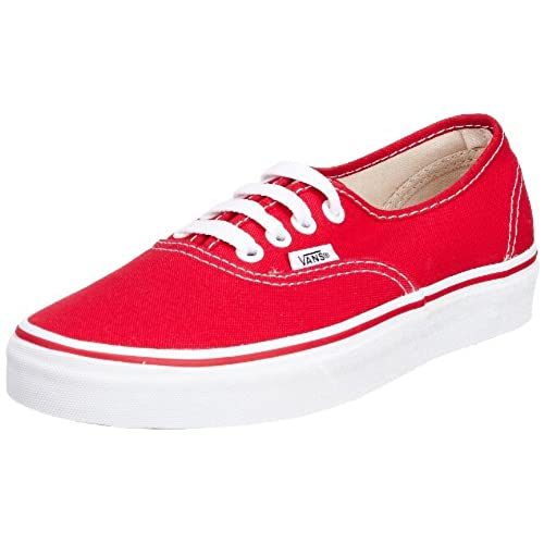 vans shoes red and white