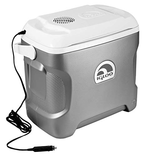 Igloo Iceless Thermoelectric Cooler (Silver/White, 28-Quart) (Best Vehicle For Traveling And Camping)