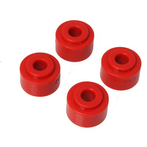 8103R Sway Bar End Link; Red; Full Size Truck Style; Grommets Only; ID 7/16 in.; Nipple OD 7/8 in.; OD 1.25 in.; Overall Length .75in.; 4 pc.; (Energy Suspension End Links)