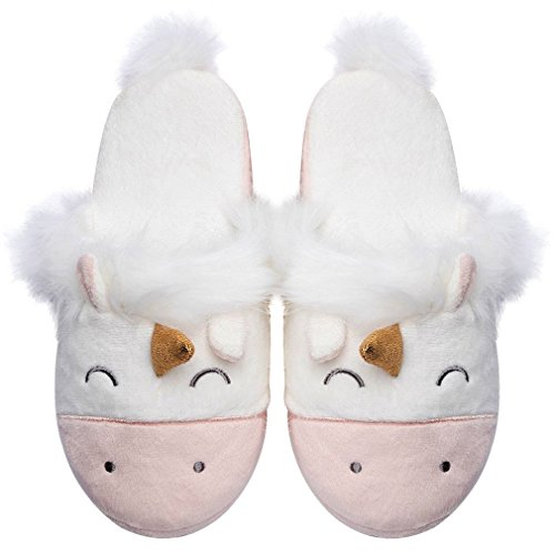 Caramella Bubble Unicorn Animal Slippers | Indoor Outdoor Women Slippers | Cozy Plush Home Shoes | Cute Fluffy Girls Slippers