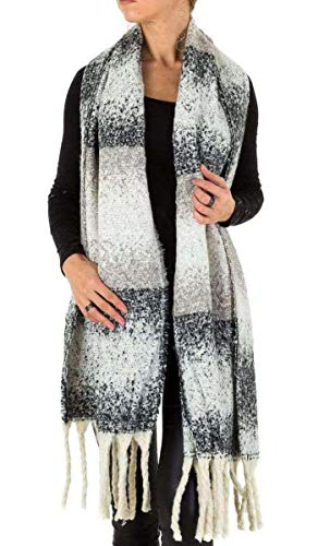 - Wool scarf fringe sprinkle One Size (Einheitsgröße)