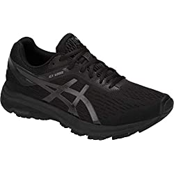 ASICS GT-1000 7 Men's Running Shoe, Black/Phantom, 12.5 XW US