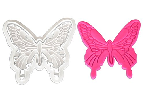 FOUR-C Butterfly Embossing Cutter for Cupcake Decorating Sugar Craft Tools Color White