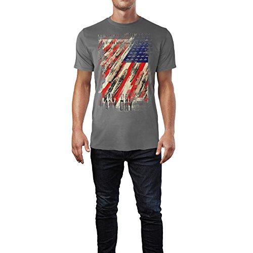 SINUS ART® US Navy Day Herren T-Shirts graues Cooles Fun Shirt mit tollen Aufdruck