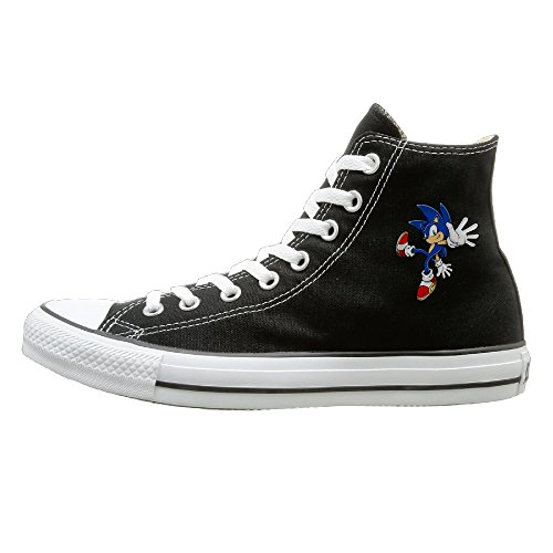 Unisex X-max Gift Sonic Hedgehog Cool High Top Sneakers Canvas Shoes 37 (Sonic The Hedgehog Sneakers)