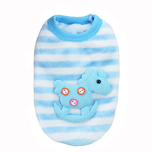 Product image of MD New Cute Baby Pet Clothes Teacup Dogs Clothing Puppy Winter Warm Thick Sweaters (XXXS, Blue)