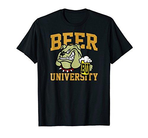 Cool Beer University Bulldog & Jar Shirt Dogs