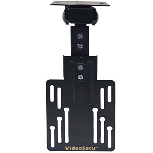 "VideoSecu Flip Bracket Tilt Swivel Kitchen Under Cabinet Folding TV Ceiling Mount for most 13-30"" LCD LED TV Flat Panel Monitor Display with VESA 75x75 100X100 1MS"