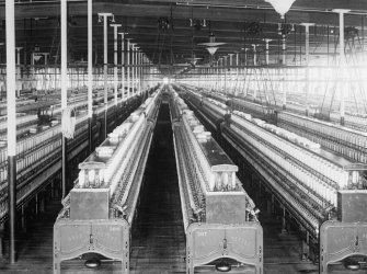 early 1900s photo Cotton mills spinning frames, Coolidge Mills, Manchester, N e6 (Manchester Restaurant Stock)