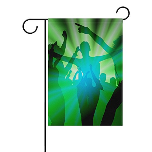 """LEISISI Musical People Garden flag 28""""X40"""" Two Sided Yard De"""