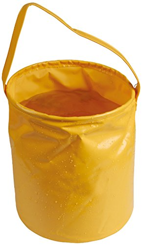 10l Bucket - AceCamp 1701 Laminated Folding Bucket, Orange, 10 L