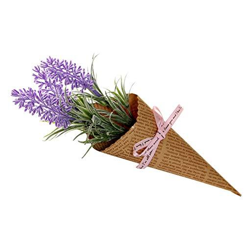 Colorido 1 Pieza de Papel Kraft de Flores Artificiales para decoración del hogar, Centro de Mesa de Fotos para Fiestas y...
